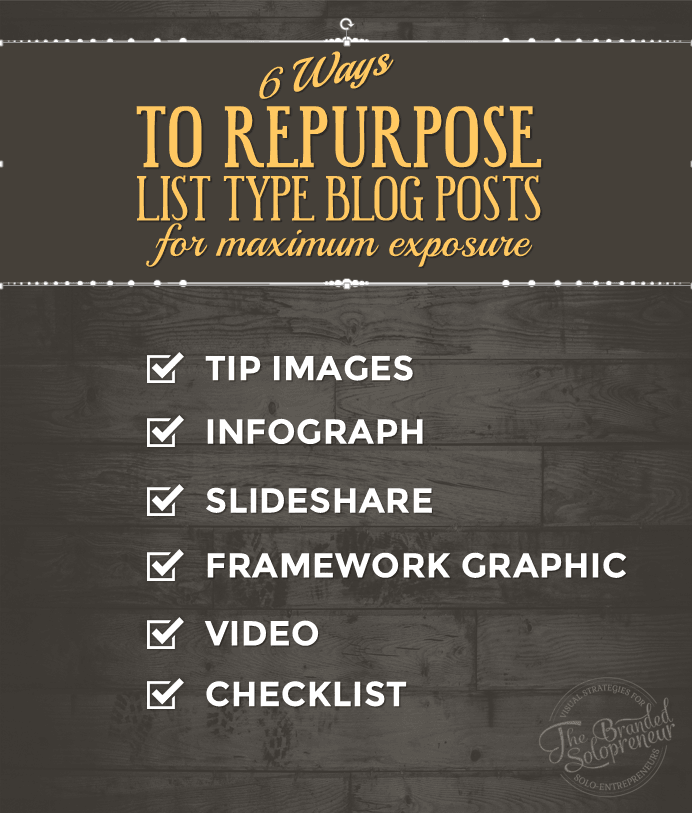 6 Ways to Repurpose List Type Blog Posts For Maximum Brand Exposure