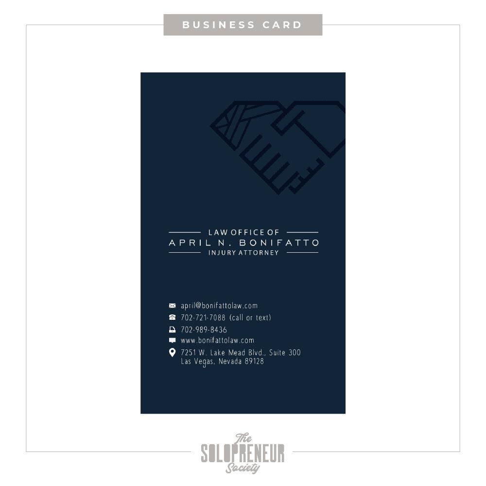 April Bonifatto Brand Identity Business Cards