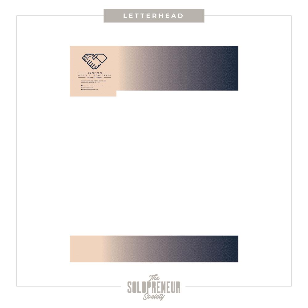 April Bonifatto Brand Identity Letterhead