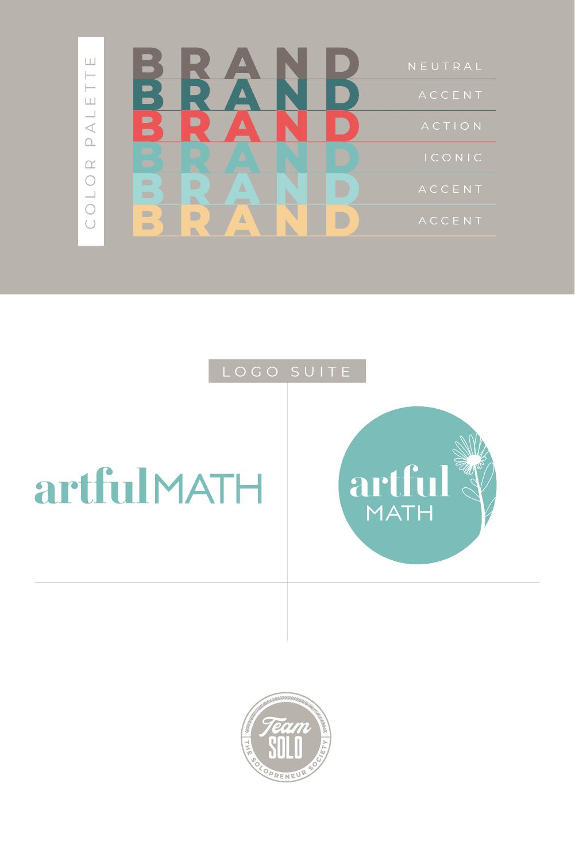 Artful Math Brand Identity Design