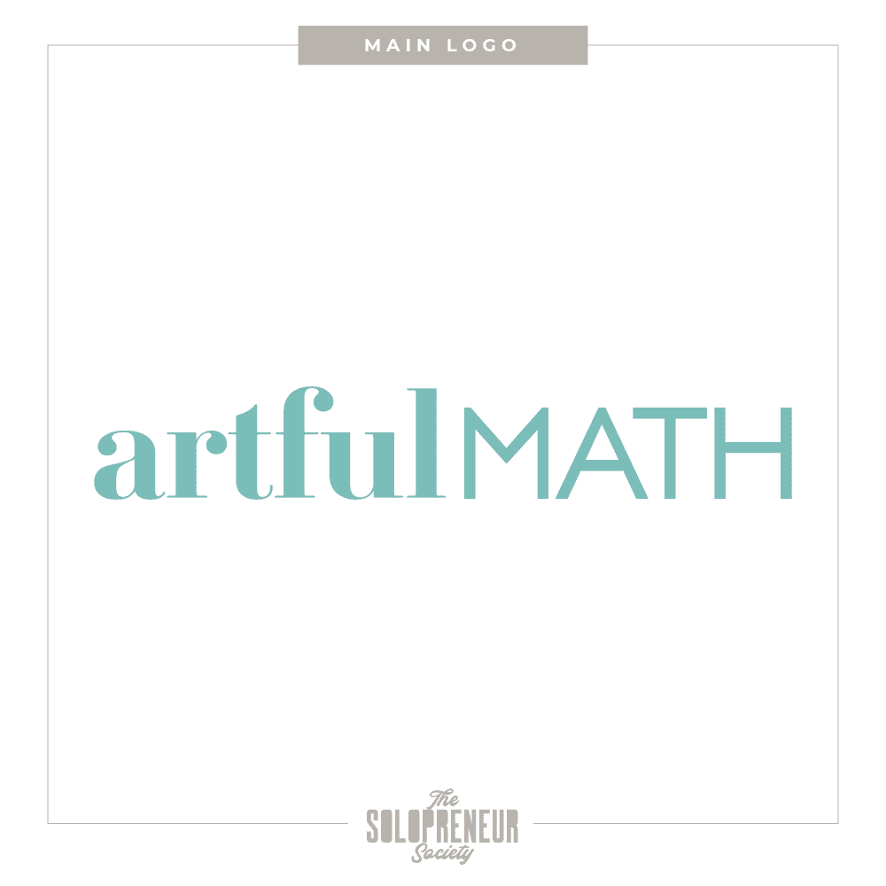 Artful Math Brand identity Main Logo