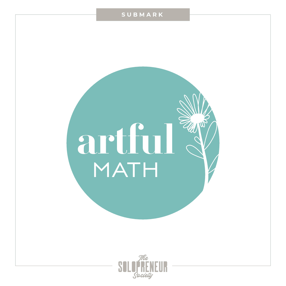 Artful Math Brand identity Submark Logo