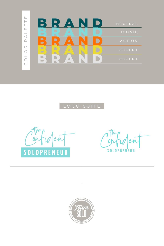 The Confident Solopreneur Brand Identity Design