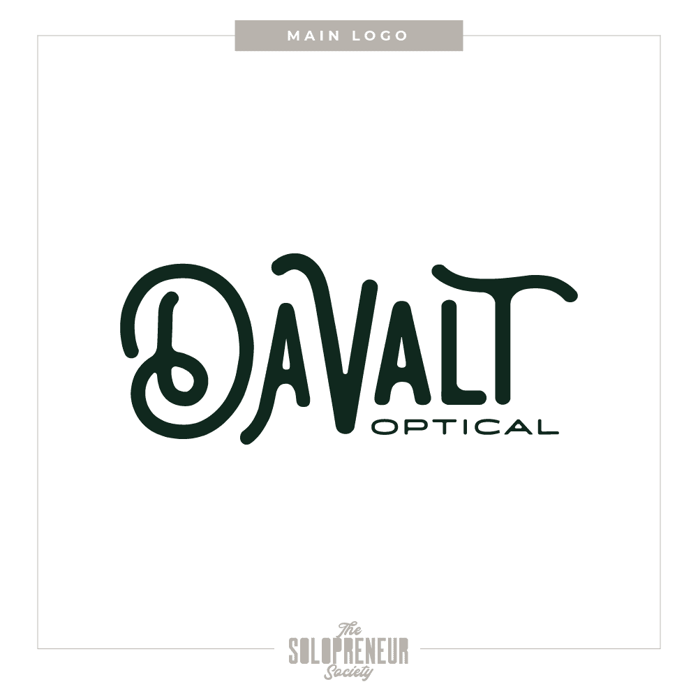 Davalt Optical Brand Identity Main Logo