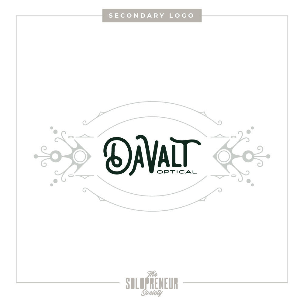 Davalt Optical Brand Identity Secondary Logo