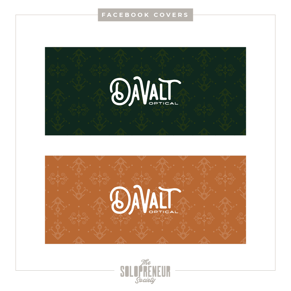 Davalt Optical Brand Identity Facebook Covers