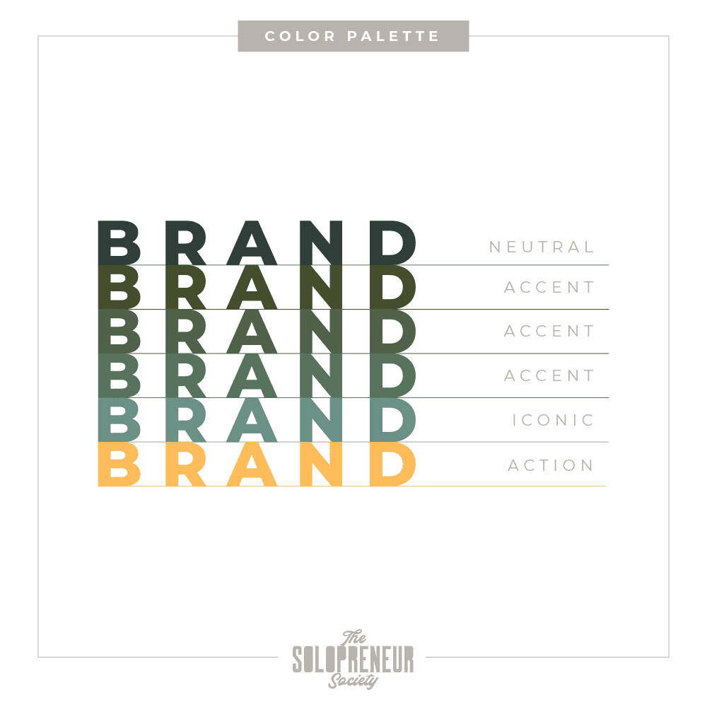 Gregory Levine Brand Identity Color Palette