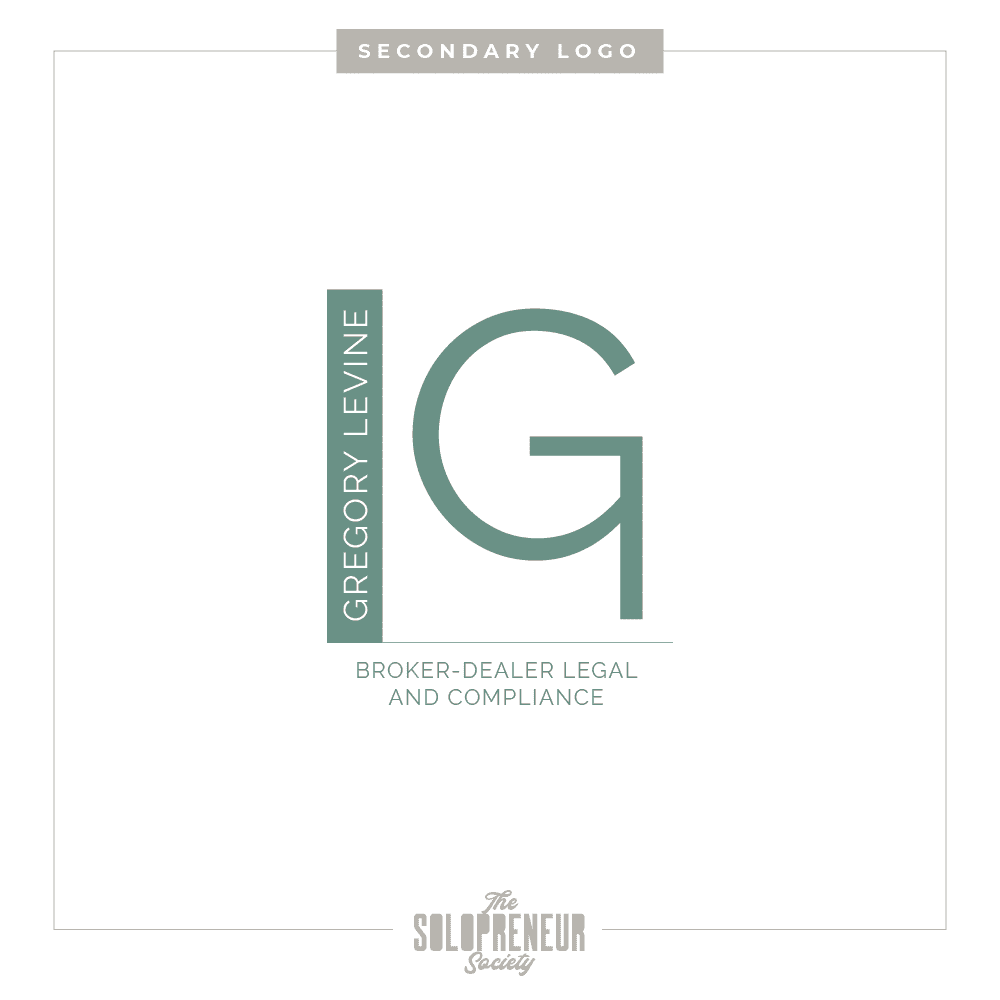 Gregory Levine Brand Identity Secondary Logo