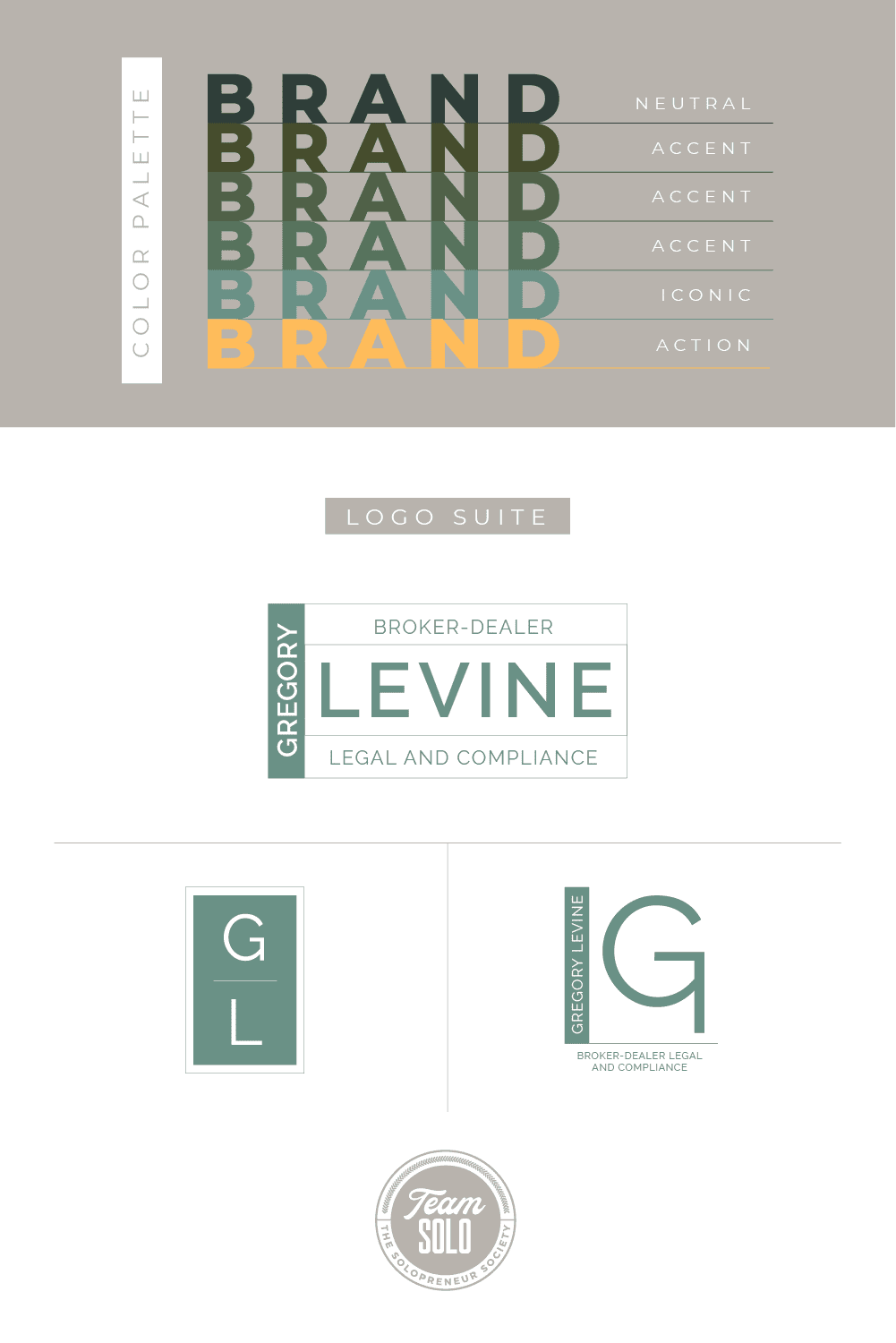 Gregory Levine Law Brand Identity Design