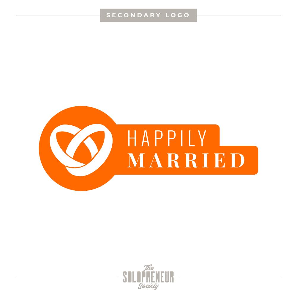 Happily Married Brand Identity Secondary Logo