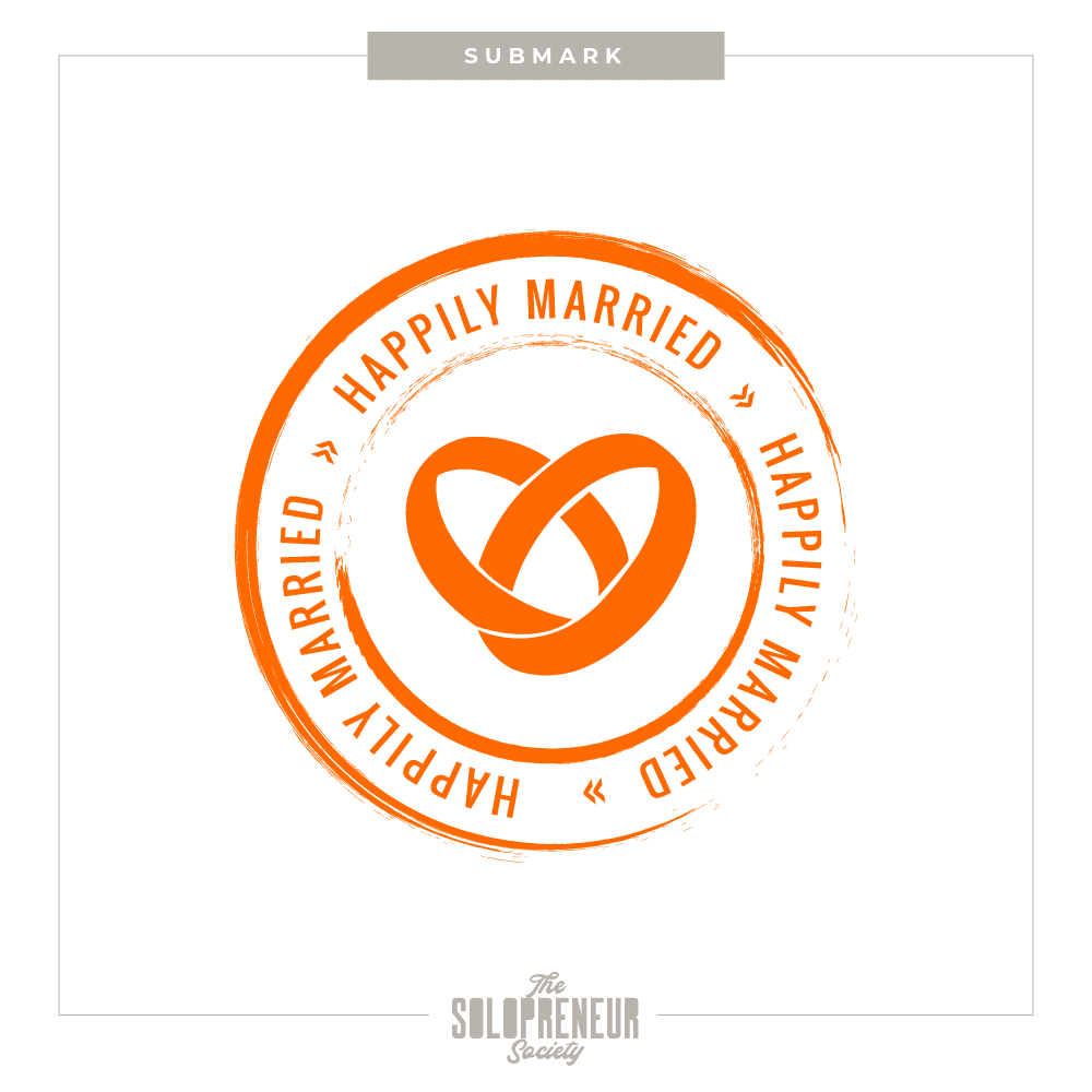 Happily Married Brand Identity Submark Logo