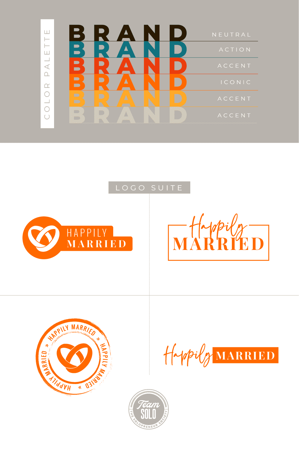 Happily Married Brand Identity Design