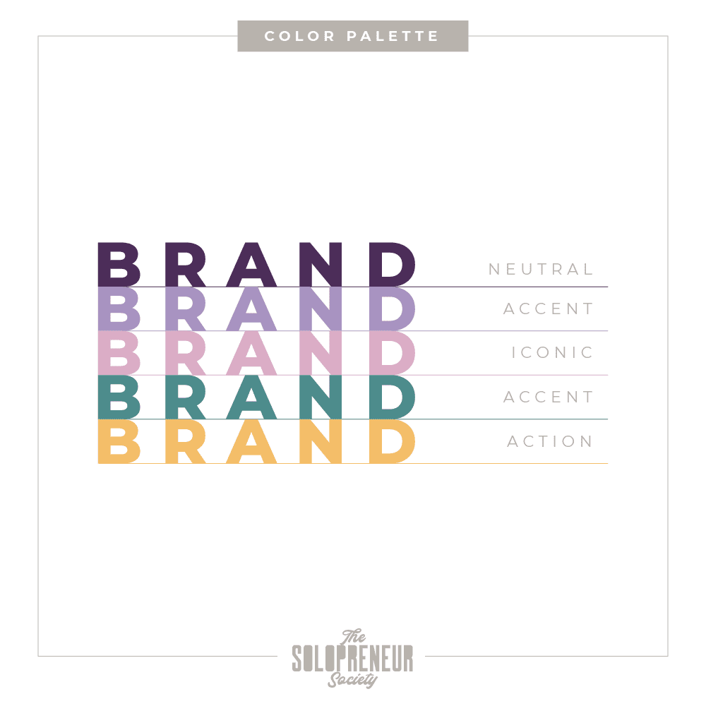 Heartful Healing Space Brand Identity Color Palette
