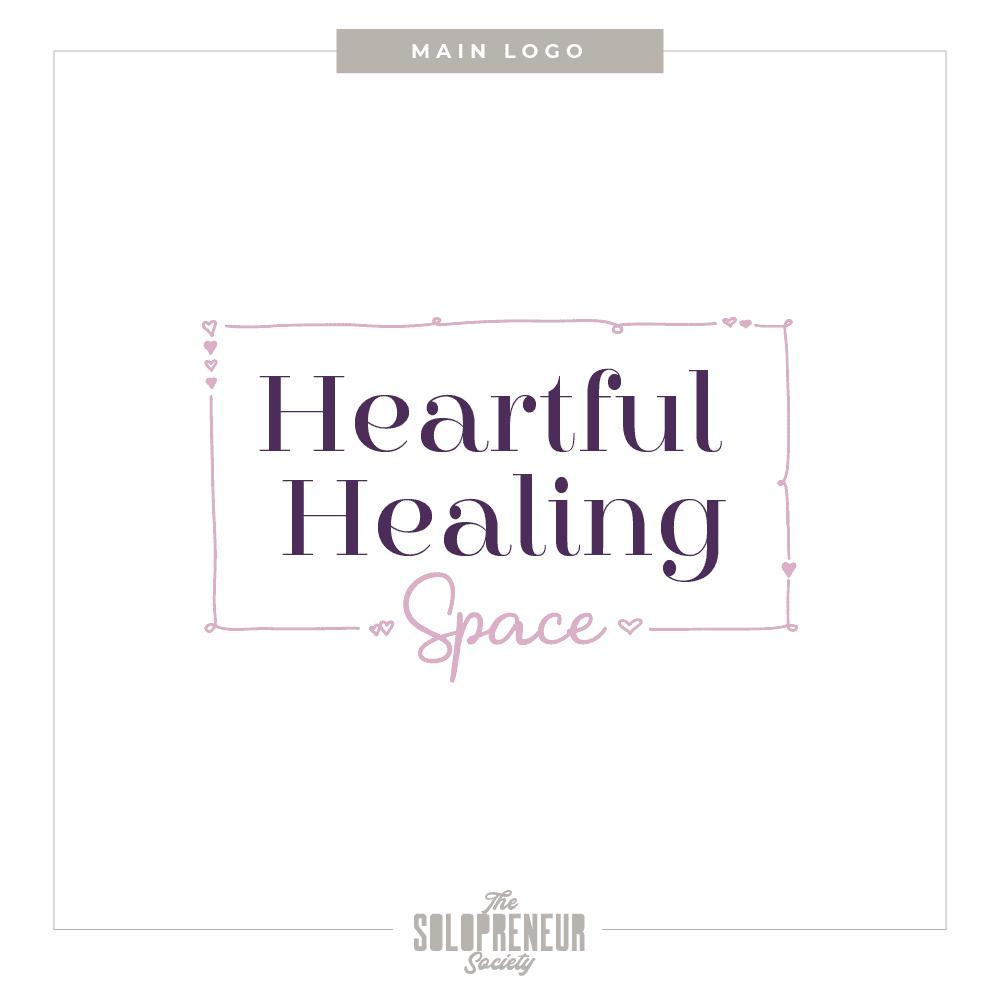 Heartful Healing Space Brand Identity Main Logo