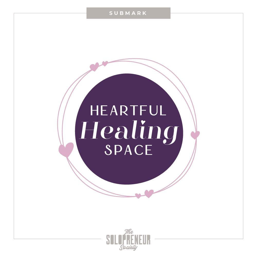 Heartful Healing Space Brand Identity Submark Logo