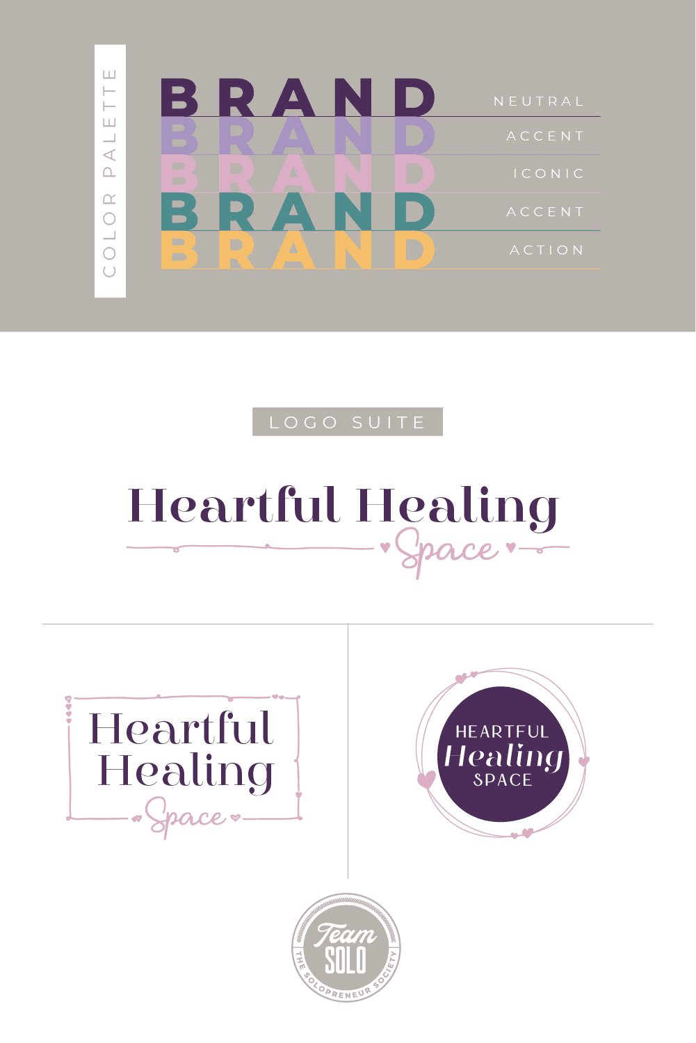 Heartful Healing Space Brand Identity Design