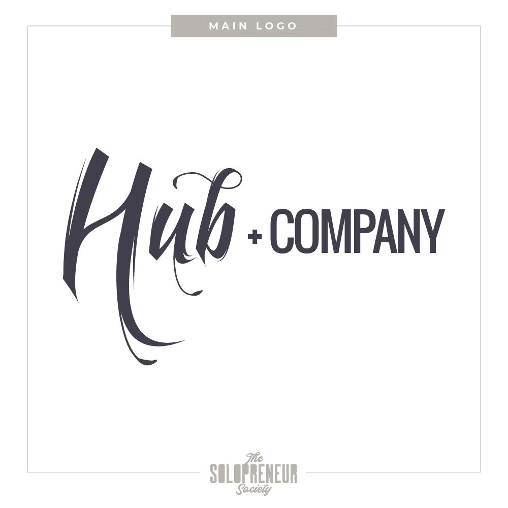 Hub + Company Brand Identity Logo Design
