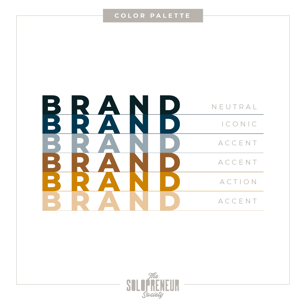 Journey To You Brand Identity Color Palette