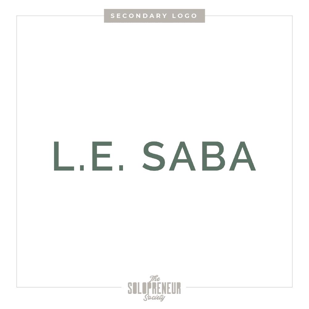 LE Saba Brand Identity Logo