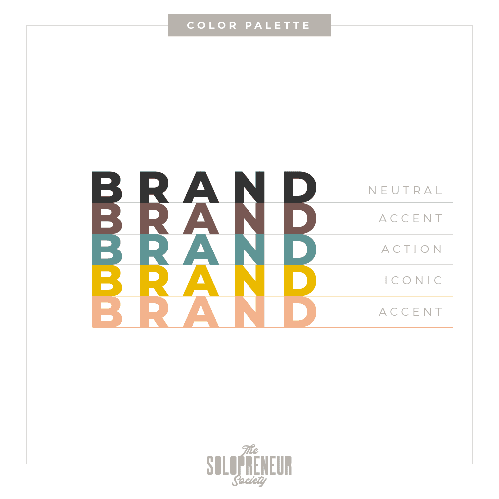 Practically Functional Brand Identity Color Palette