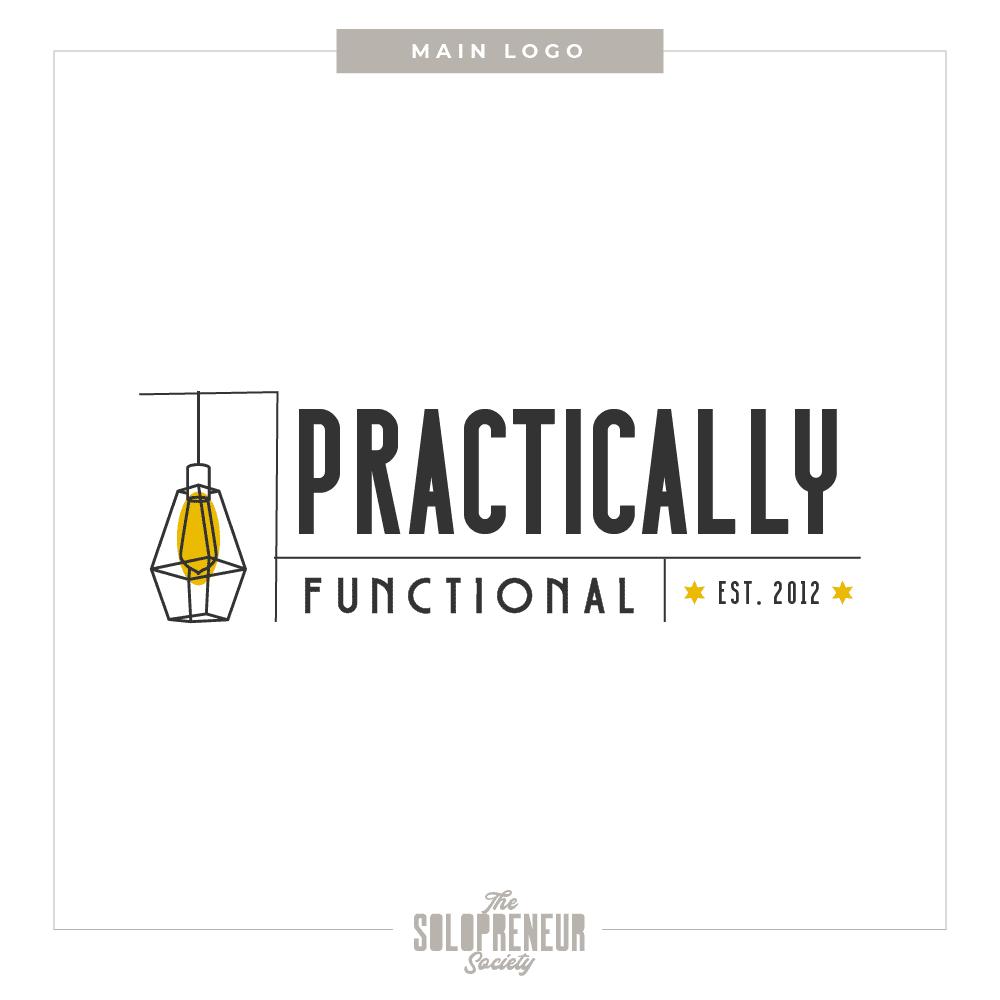 Practically Functional Brand Identity Main Logo