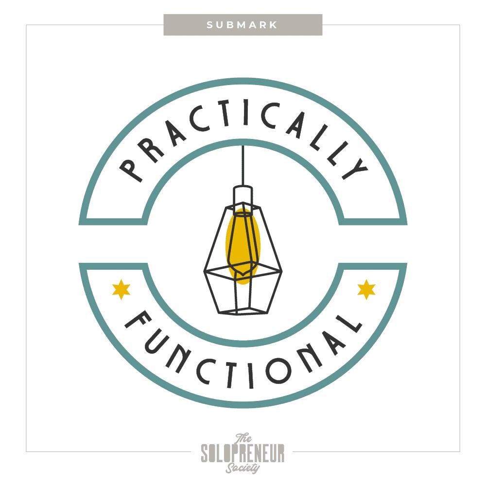 Practically Functional Brand Identity Submark Logo