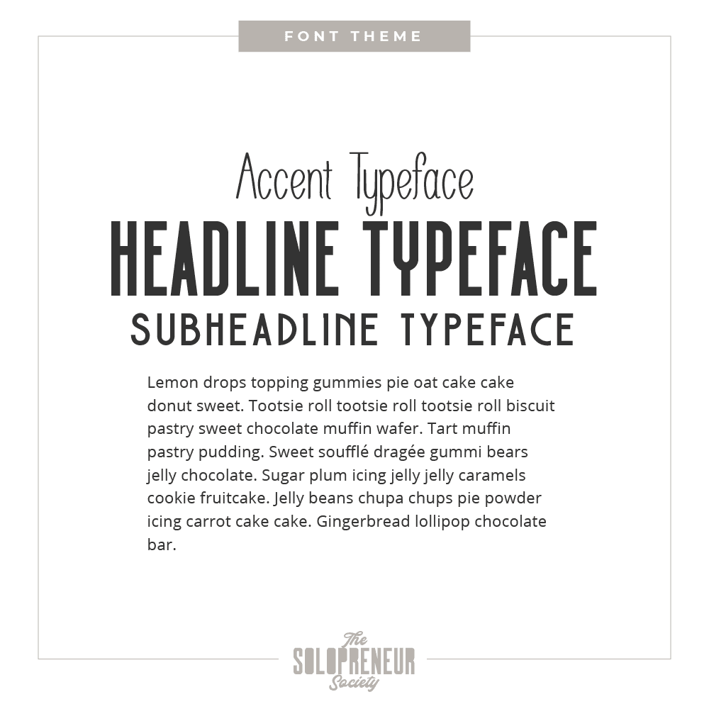 Practically Functional Brand Identity Font Theme