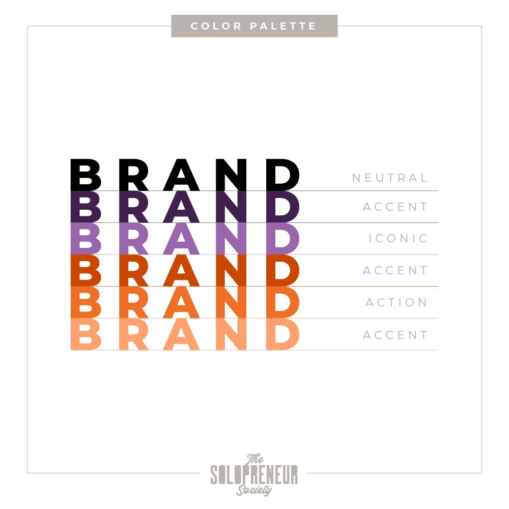 Sam Unglo Brand Identity Color Palette