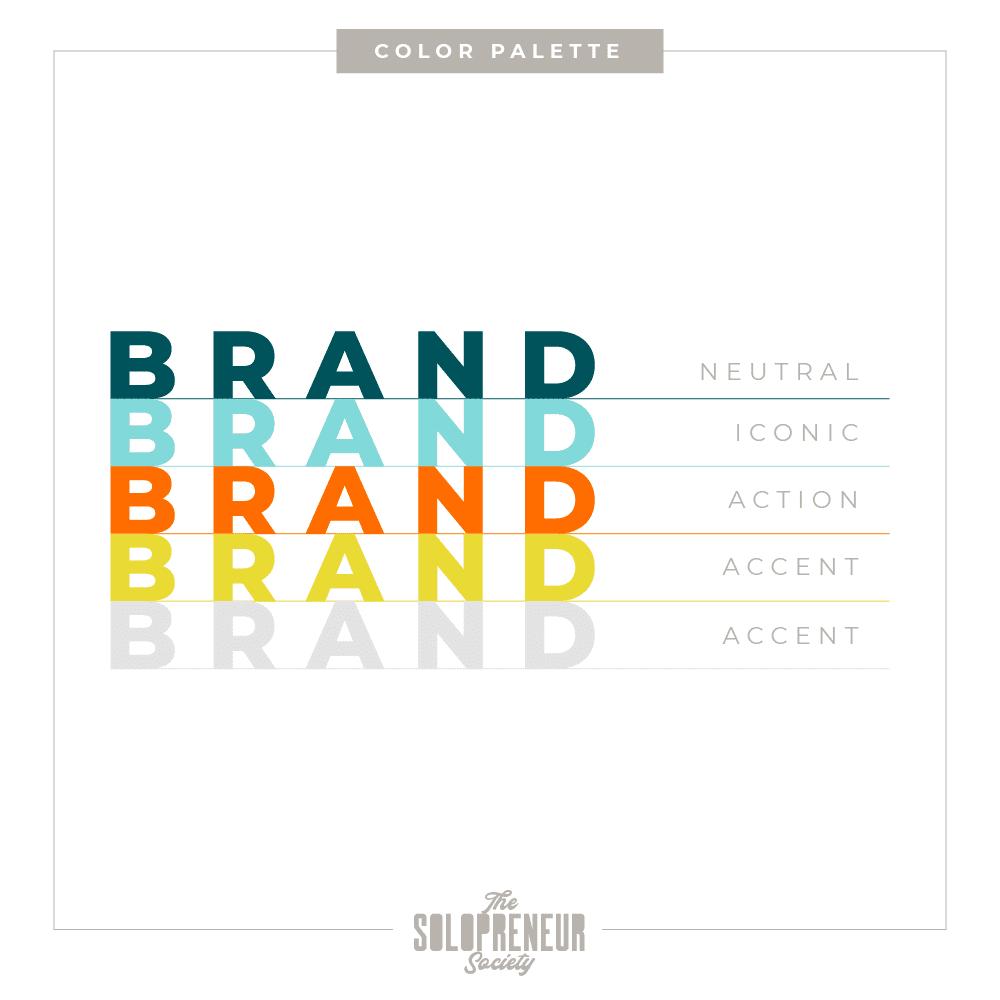 The Confident Solopreneur Brand Identity Color Palette