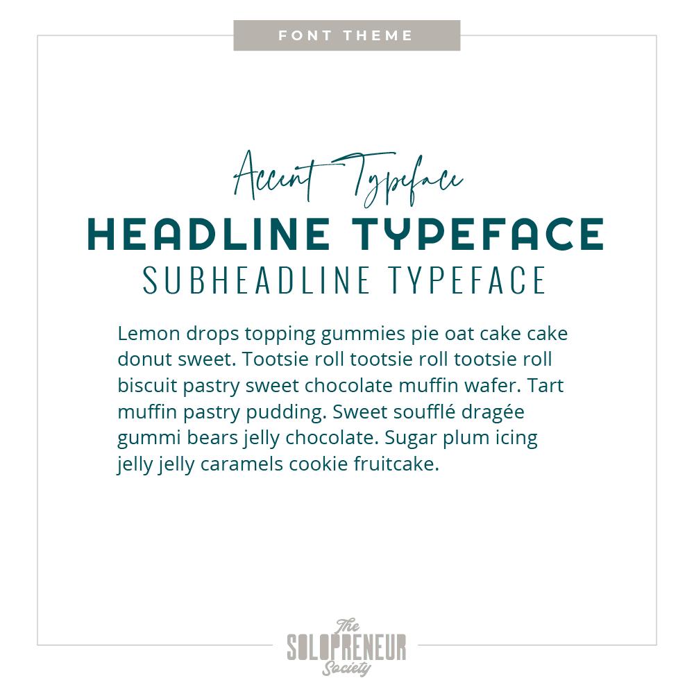 The Confident Solopreneur Brand Identity Font Theme