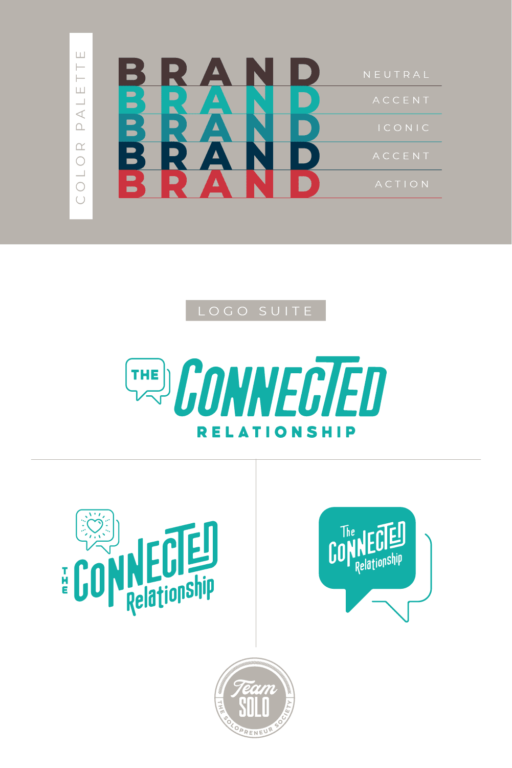 The Connected Relationship Brand Identity Design