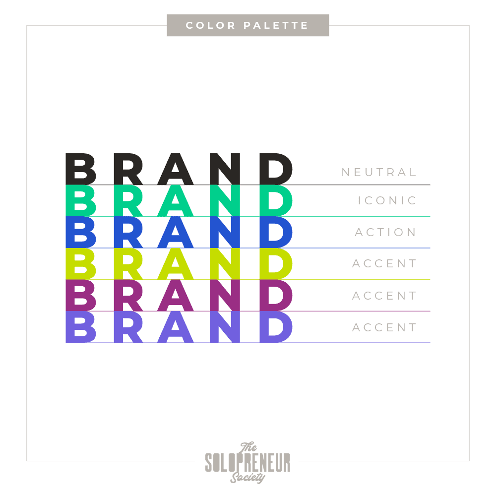 The Solopreneur Society Brand Color Palette