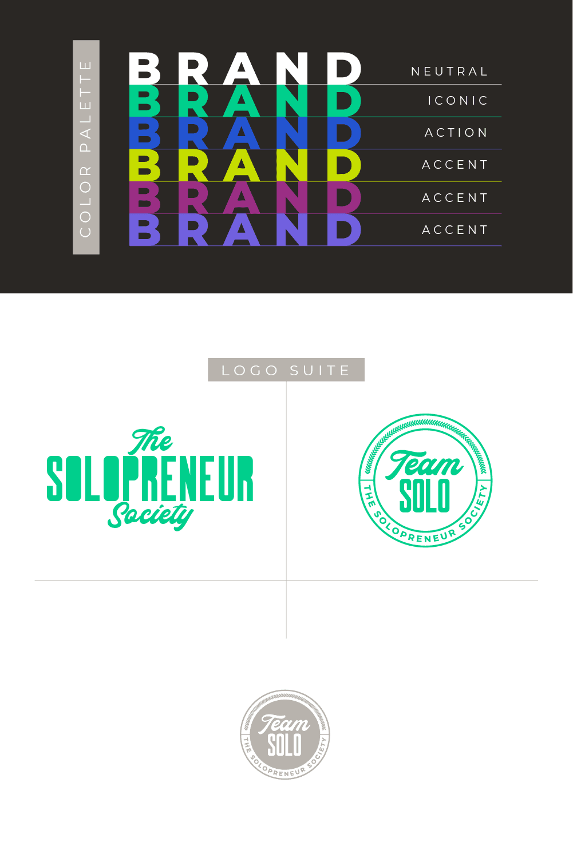 The Solopreneur Society Brand Identity Design