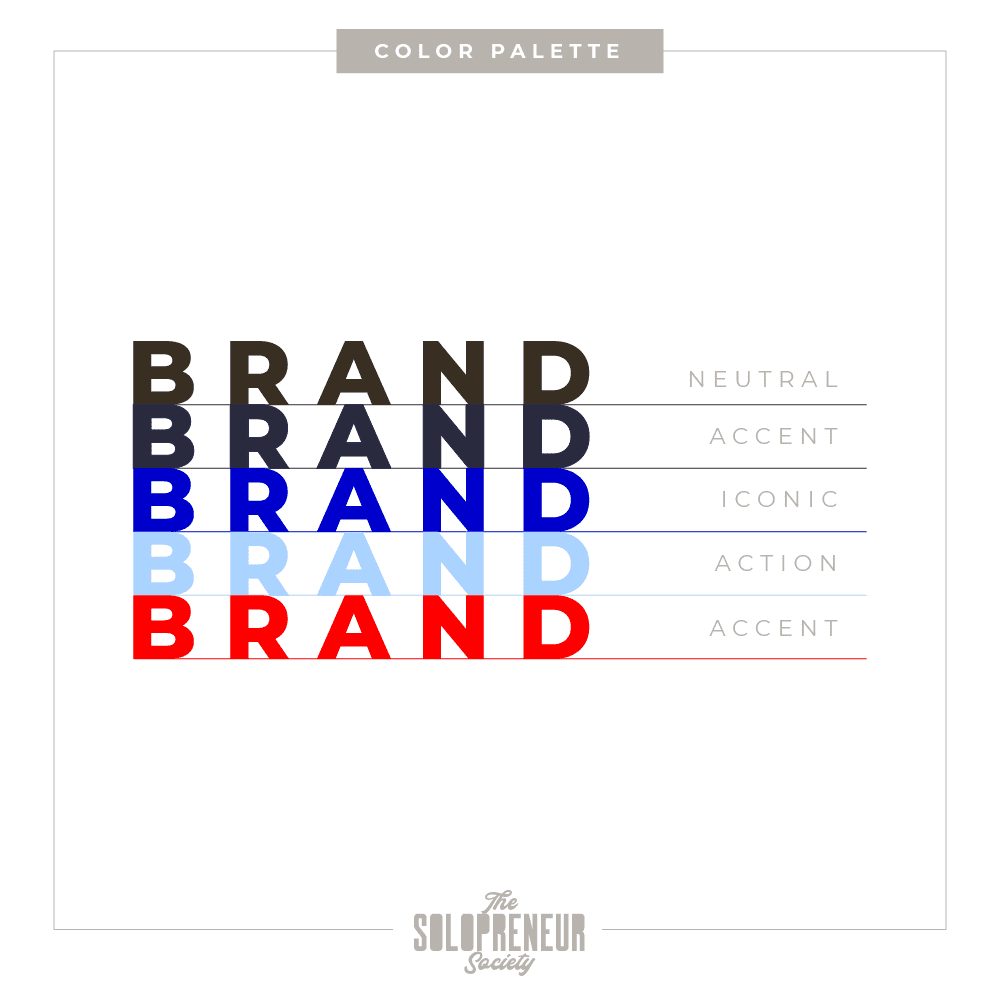 Unique Insights Brand Identity Color Palette
