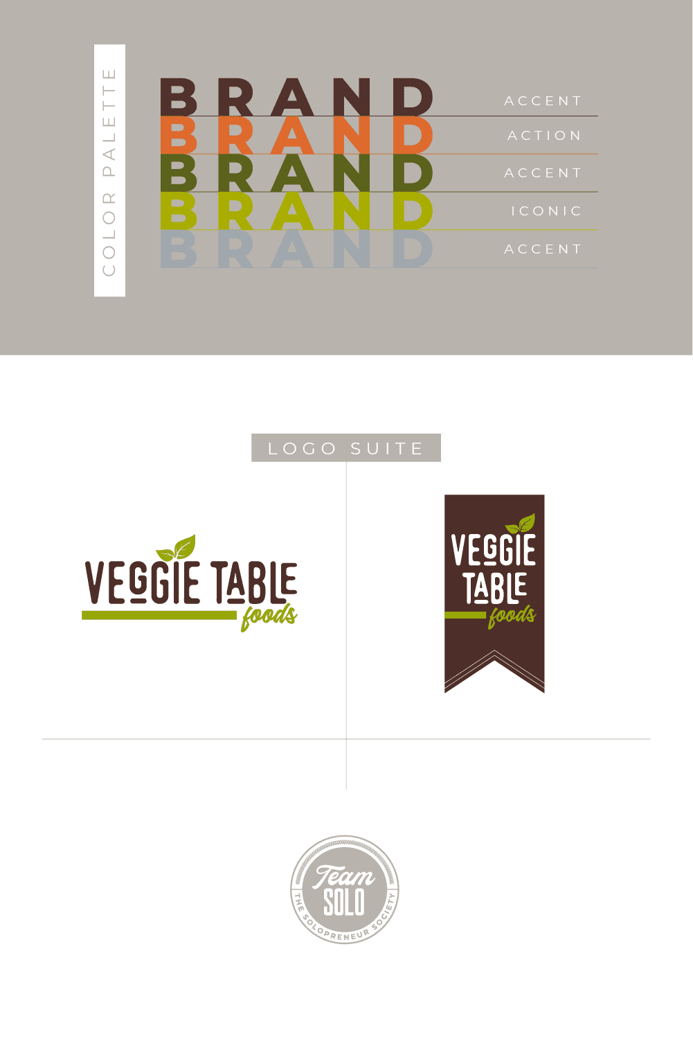 Veggie Table Foods Logo Suite Design