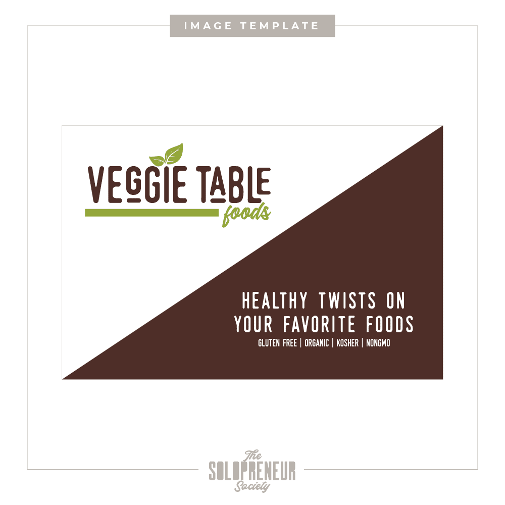 Veggie Table Foods Business Card