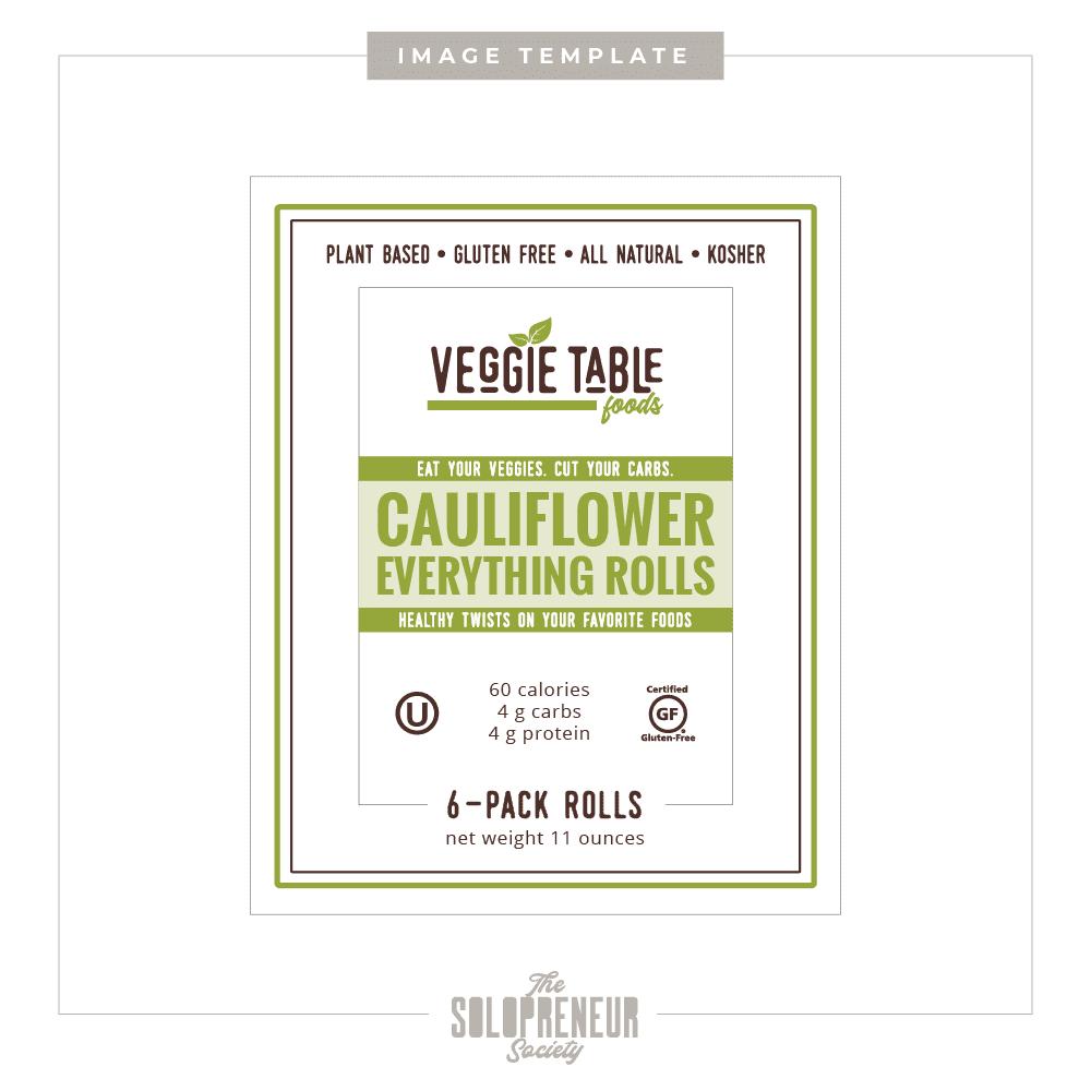 Veggie Table Foods Label Mockup