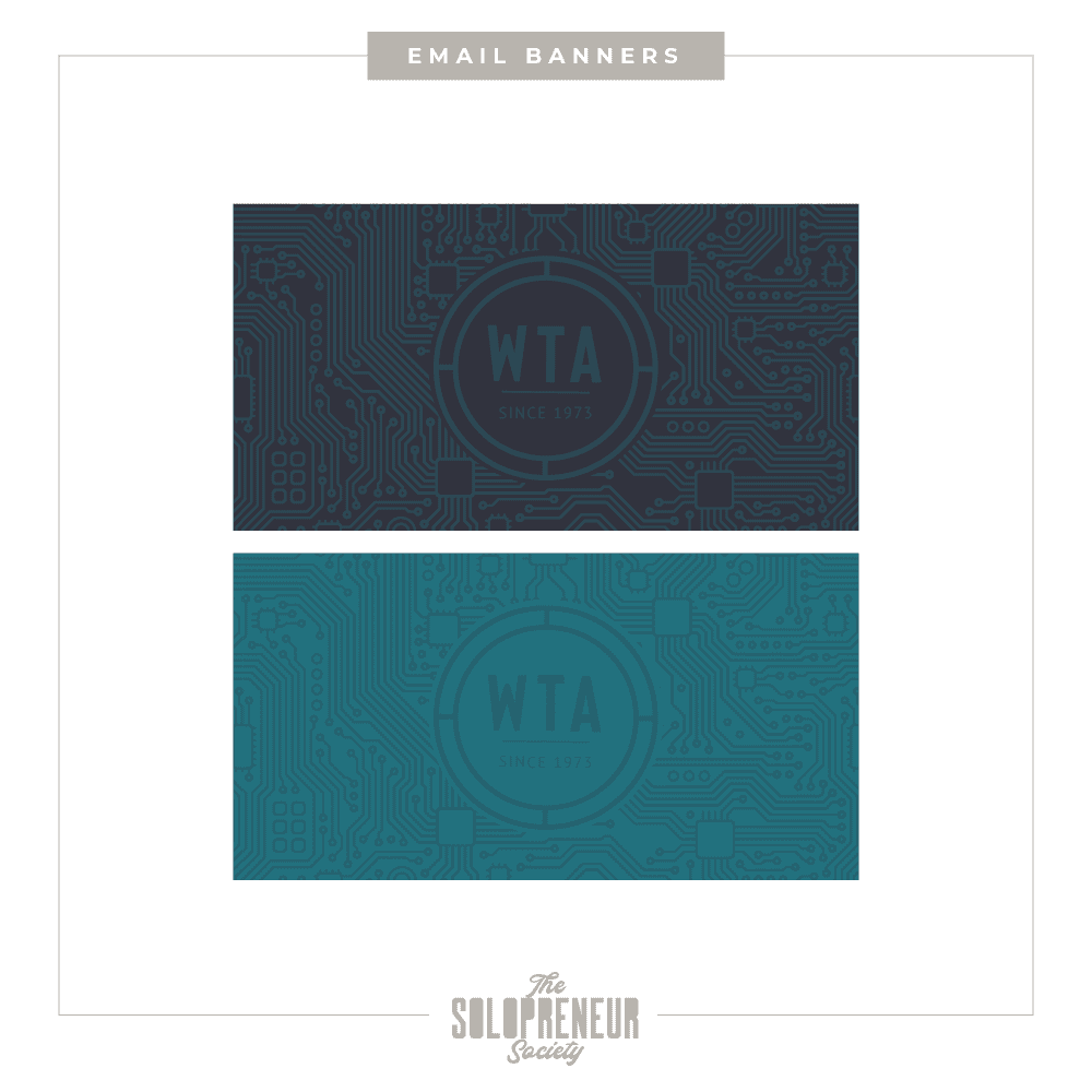 WTA Brand Identity Email Banners