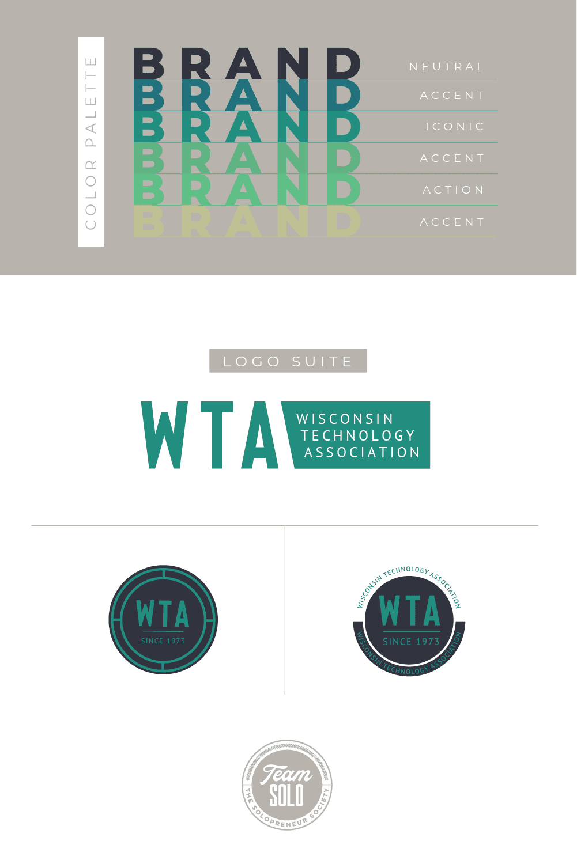 Wisconsin Technology Association Brand Identity Design