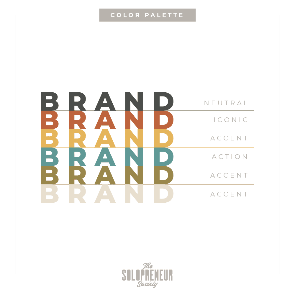 Business Muse Brand Identity Color Palette