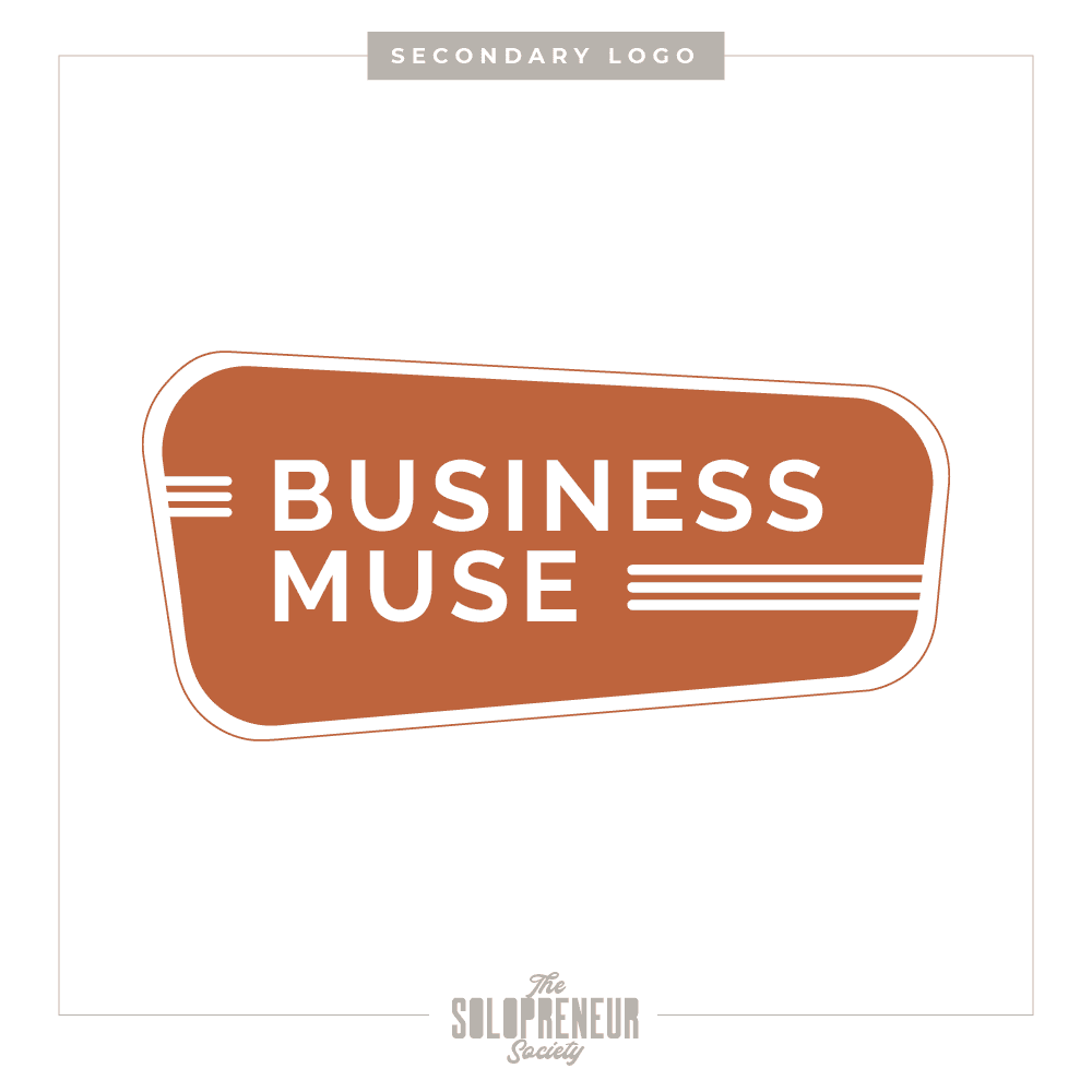 Business Muse Brand Identity Secondary Logo
