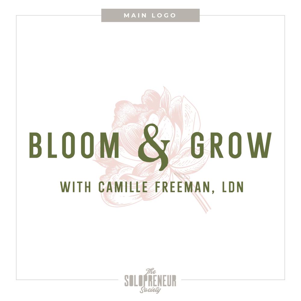 Bloom & Grow Brand Identity Main Logo