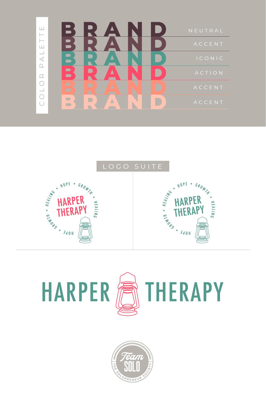 Harper Therapy Brand Identity Design