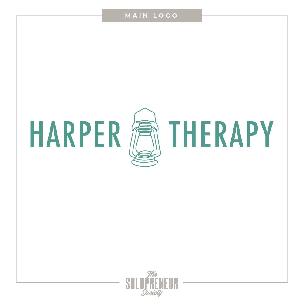 Harper Therapy Brand Identity Main Logo
