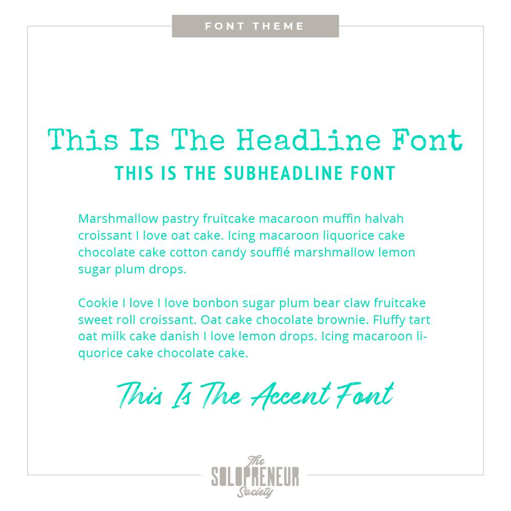 Thea Caye Font Theme